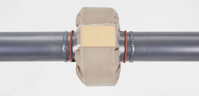 Teflon® Woven Flange Guards help keep workers safe from fluid leaks